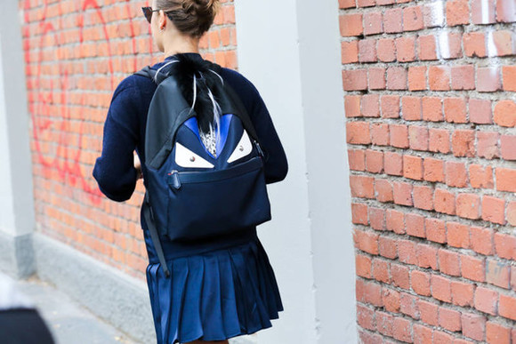 bag backpack fashion week 2014 streetstyle