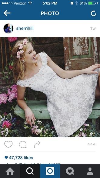 dress white floral dress