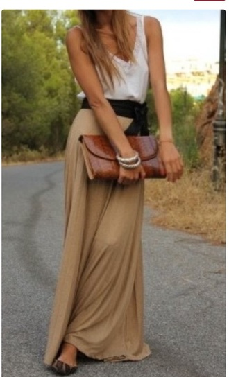dress maxi dress maxi skirt cute dress fall dress long dress taupe tan tank maxi summer dress fall outfits summer outfits