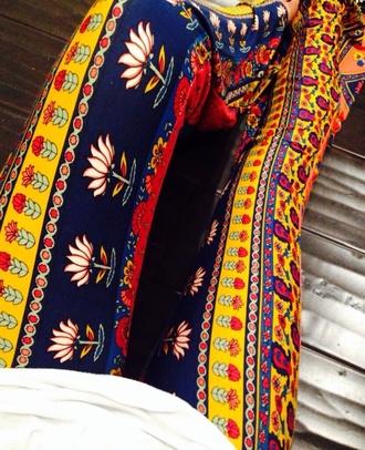 palazzo pant palazzos pattern flare pants leggings harem pants wide-leg pants festival comfy red lime sunday