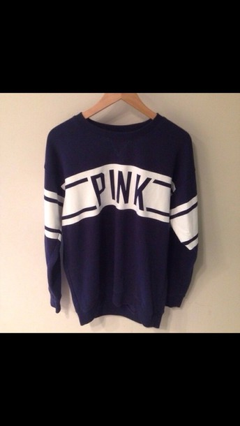 sweater pink by victorias secret blue sweater