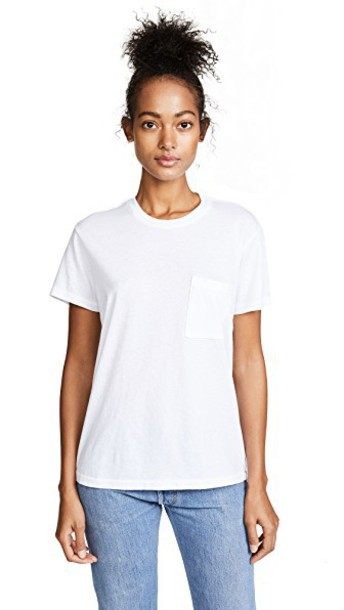 Re/Done t-shirt shirt t-shirt new boyfriend white top