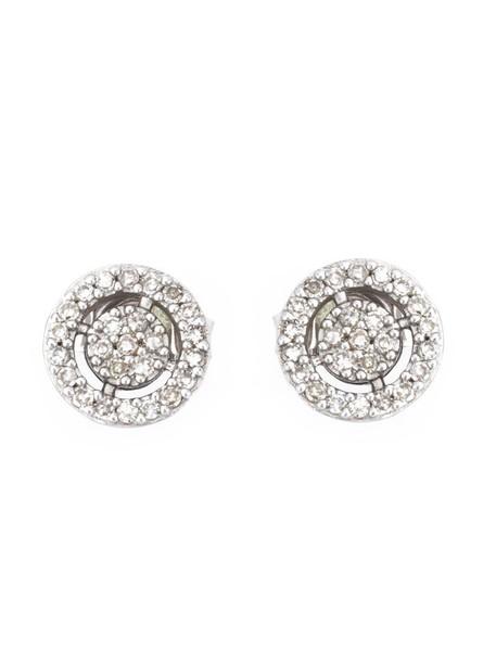 mini women earrings stud earrings gold white grey metallic jewels