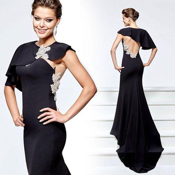 Dress Tarik Ediz Formal Gown Red Carpet Dress Black Dress