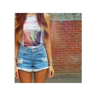 blouse denim high waisted shorts california denim shorts ripped shorts top newlooks topshop jewels socks shorts jumpsuit