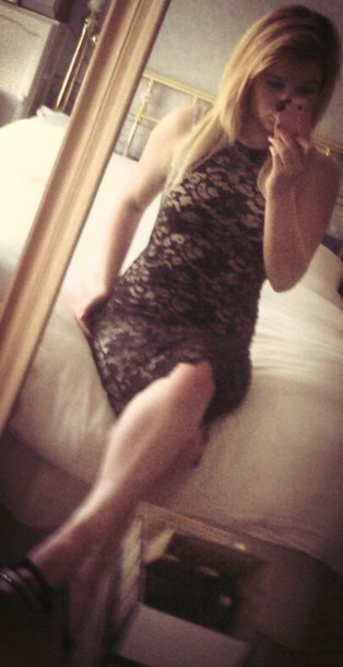 dress heels lace dress