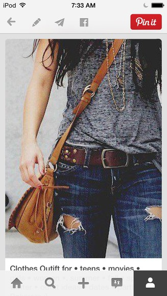jewels jeans bag belt
