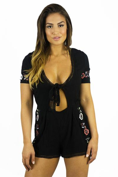 Somedays Lovin Wide Eyes Embroidered Playsuit