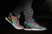 shoes,addias shoes,adidas,glow in the dark shoes