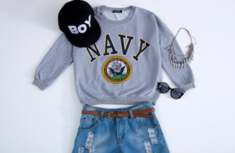 grey sweater romwe pullover romwe pullover