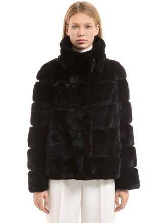 jacket fur jacket fur black