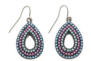 Amazon.com: Shagwear Woman's Earrings Vintage Classic Tribal Teardrop Beaded Earrings: Jewelry