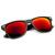 Flat Matte Black Revo Color Lens Wayfarer Sunglasses 8025                           | zeroUV