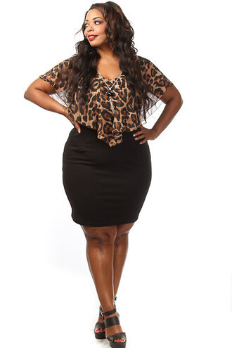 dress pinkclubwear plus size plus size dress mini dress plus size mini dress leopard print sexy dress clubwear