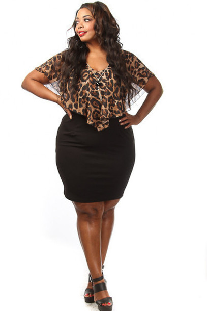 Mini dress clubwear plus size