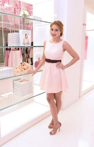 dress sandals baby pink lauren conrad blogger pink dress tank top t-shirt skirt shoes