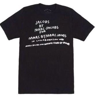 shirt t-shirt top black black top marc jacobs grunge cool black t-shirt