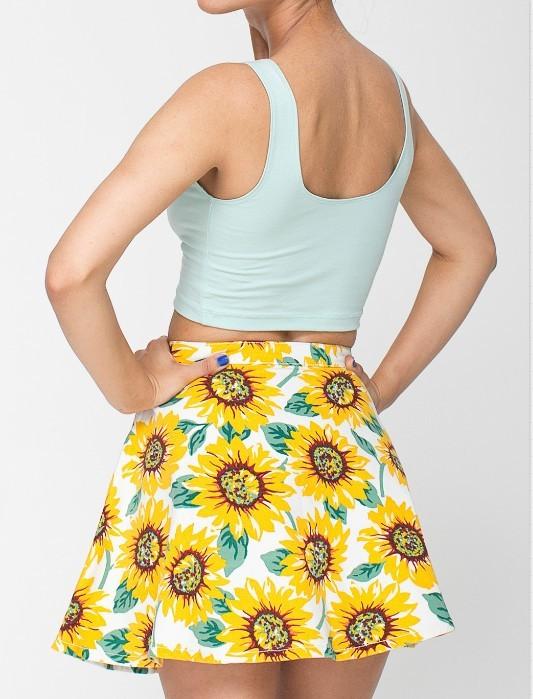 Sunflower denim skirt · radtrash · online store powered by storenvy