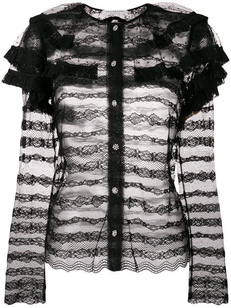 Philosophy Di Lorenzo Serafini - embellished lace blouse - women - Polyamide - 40, Black, Polyamide