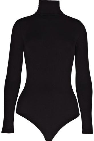 top high neck bodysuit black turtleneck pullover body