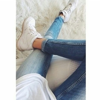 shoes white shoes white platforms cute shoes nike ish