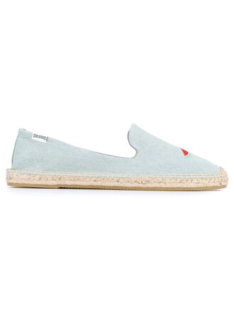 espadrilles blue shoes