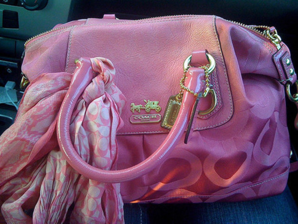 coach outlet on line d06x  bag pink purse