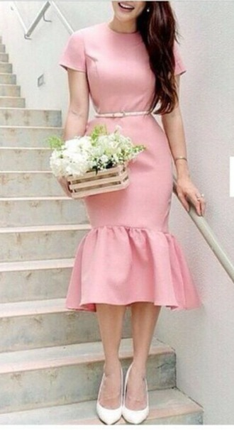 dress girl's clothes classy pastel pink