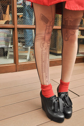 sheer stockings,underwear,tights,gun,pants