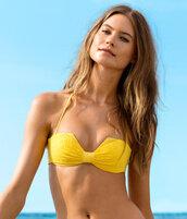 swimwear,maillot,h&m,yellow