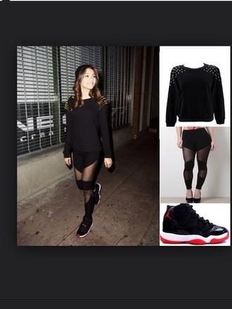 leggings zendaya black leggings