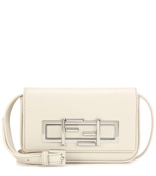 Fendi mini bag shoulder bag leather white