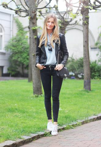 passions for fashion blogger shirt jacket jeans belt shoes sunglasses bag