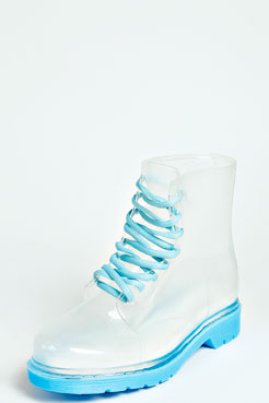 Amy Lace Up Chunky Welly Boot at boohoo.com