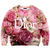 ROMWE | Letters & Roses Print Sweatshirt, The Latest Street Fashion