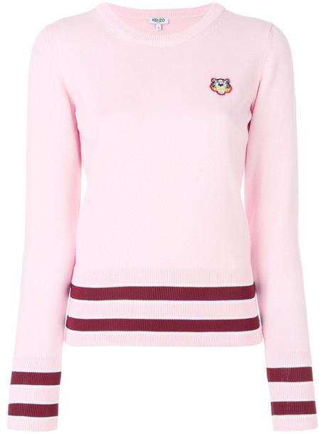 Kenzo jumper mini women tiger cotton purple pink sweater