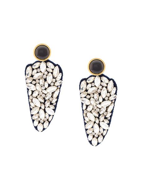 LIZZIE FORTUNATO JEWELS women earrings cotton grey metallic jewels