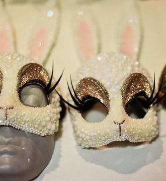 sunglasses rave bunny mask costume edc beyond whitebunny sos