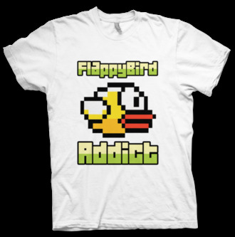 t-shirt flappy bird addict addicted addictive addiction