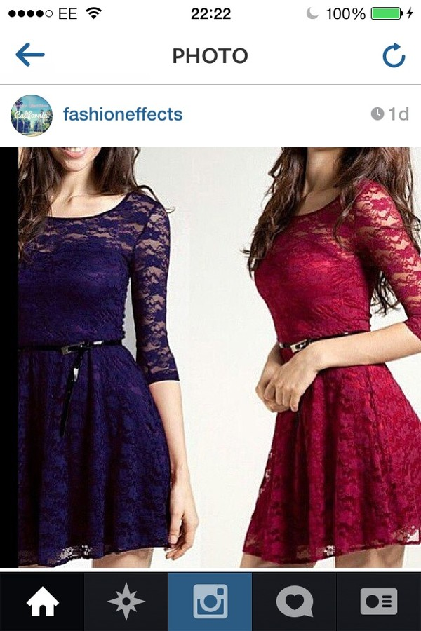dress skirt lace dress red dress cute dress sleeves