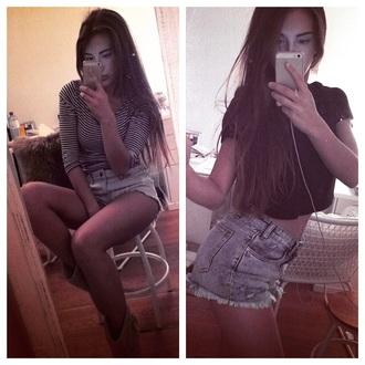 shorts short blue girl zara