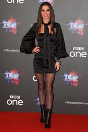 dress,cheryl cole,celebrity,little black dress,blue,black,mini dress