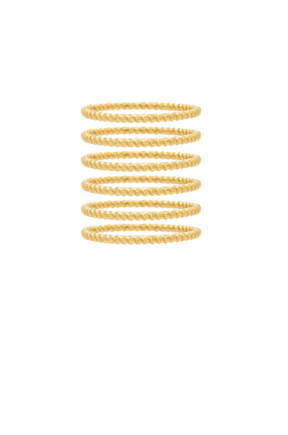 Frasier Sterling love ring metallic gold jewels