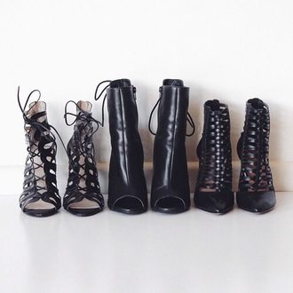 shoes black heels heels lace up lace up heels
