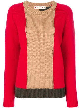 sweater women wool red