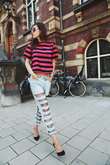 style scrapbook sunglasses jeans bag shoes jewels