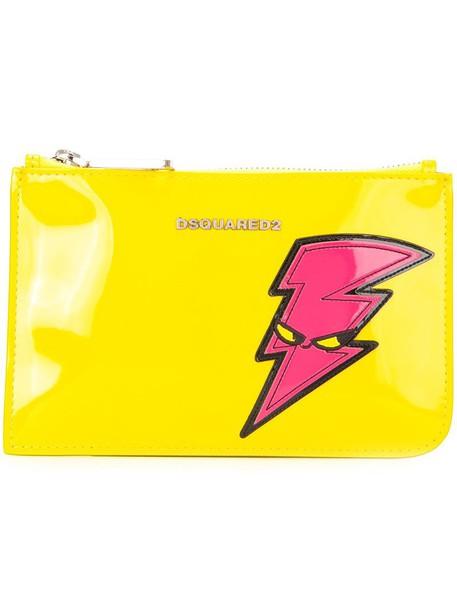 Dsquared2 punk pouch yellow orange bag