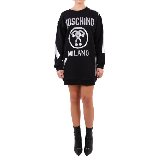 Moschino dress sweatshirt dress cotton black