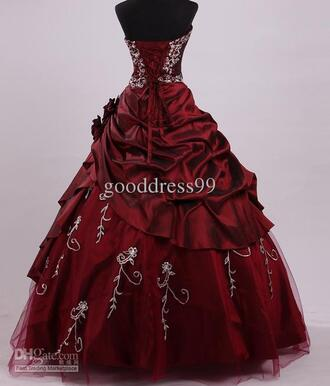 dress disney princess disney fairy tale amazing red dress