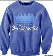 one direction,takemehome,sweater,clothes,disney,blue,disney sweater